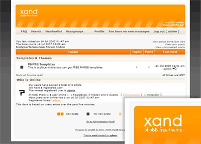 Xand PHPBB Templates