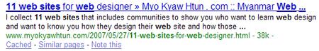 11 web sites for web designer