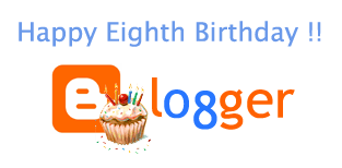 Happy Eighth Birthday, Blogger.com