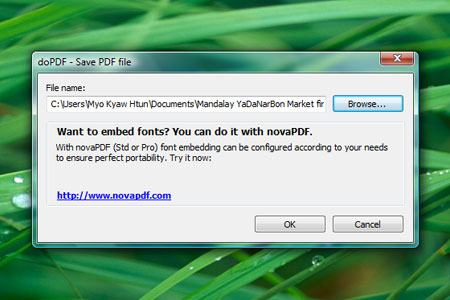 doPDF save pdf file