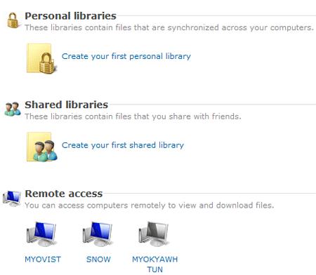 Windows Live FolderShare