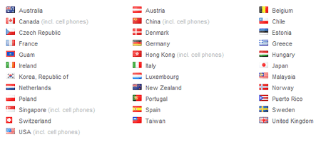 skype 34 countries