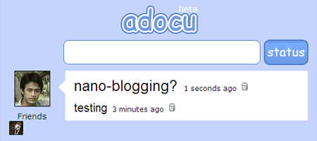 adocu - blogging gone nano